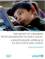 The right of children with disabilities to education